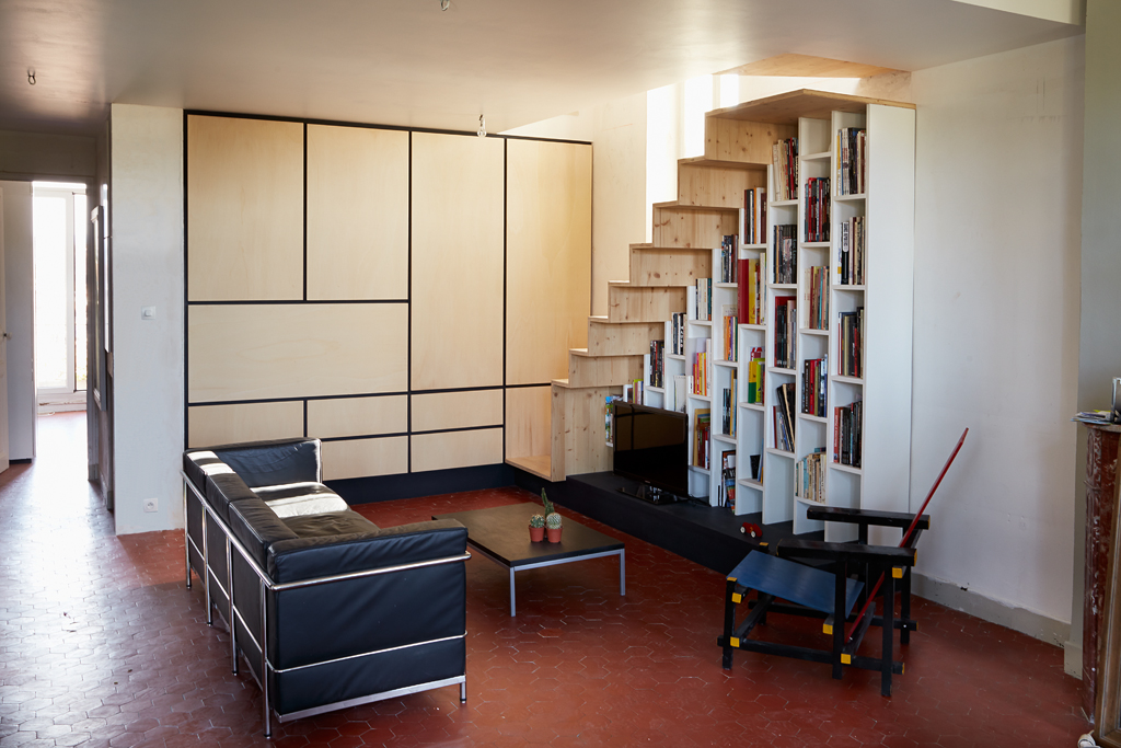 Bibliothèque, Placard, Escalier – Marseille | In Materia